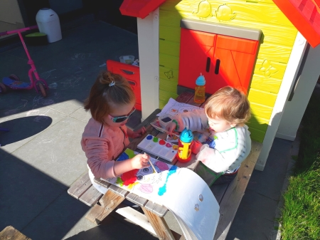 Kids playing outside