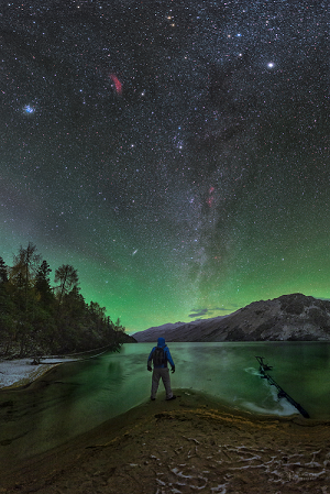 Nightly airglow Earth's atmosphere