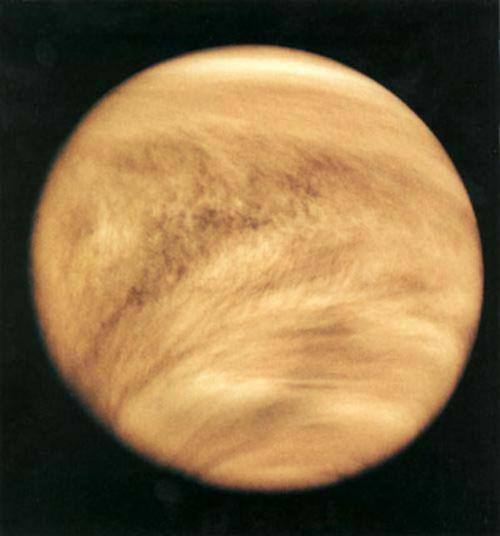 Venus clouds top